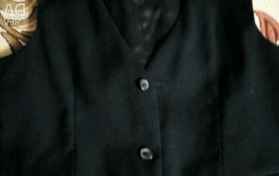 School vest, classic, height 140