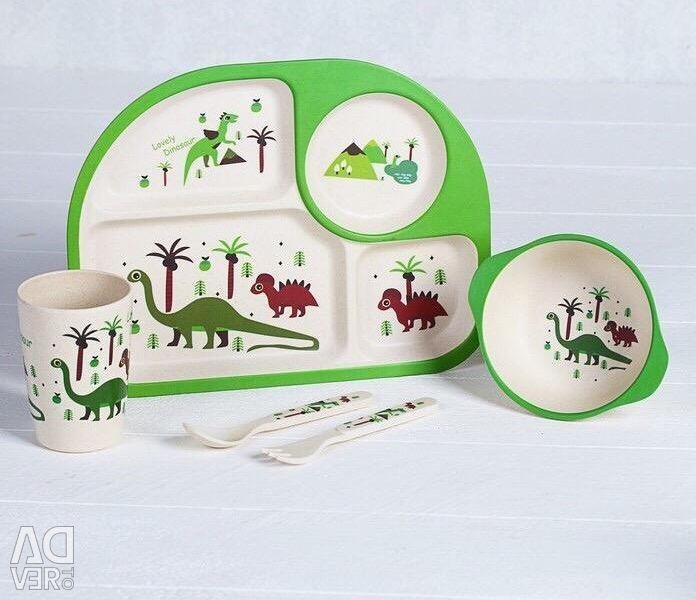 Bambu Yemek Takımı Dinozor