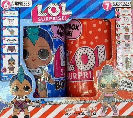 Лялька LOL в банку, набір 2 шт. (Хлопчик і дівчинка)