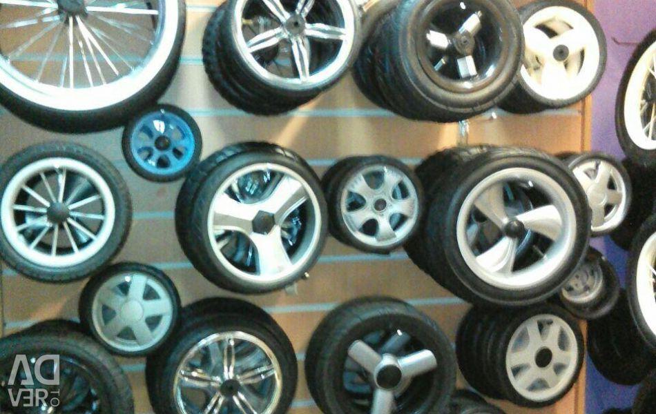 New wheels for prams