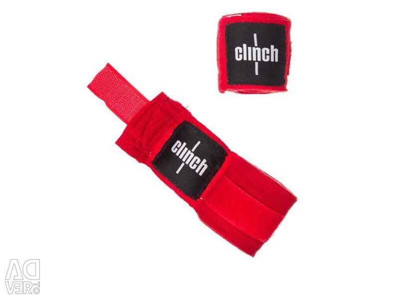Clinch 3.5 Boxing Bandages Red