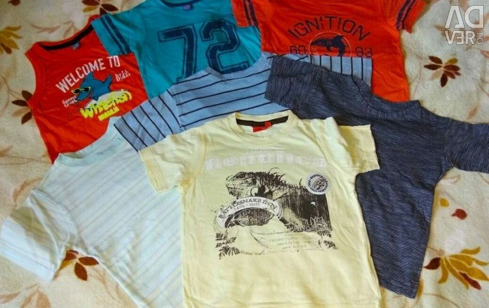 A package of T-shirts and T-shirts 7pcs) р.104 Cotton I'll give a heap