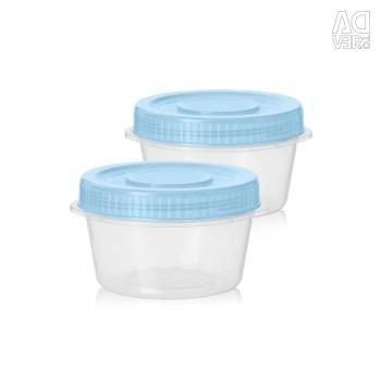 Set of containers, 2 pcs. (0.6 L)