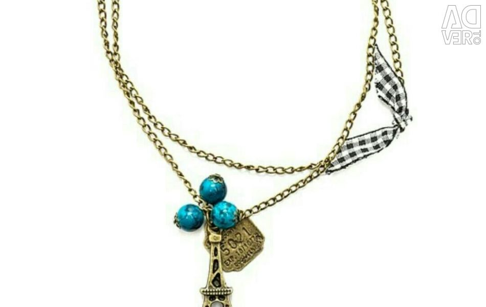 Mitya Veselkov Eiffel Necklace With Turquoise