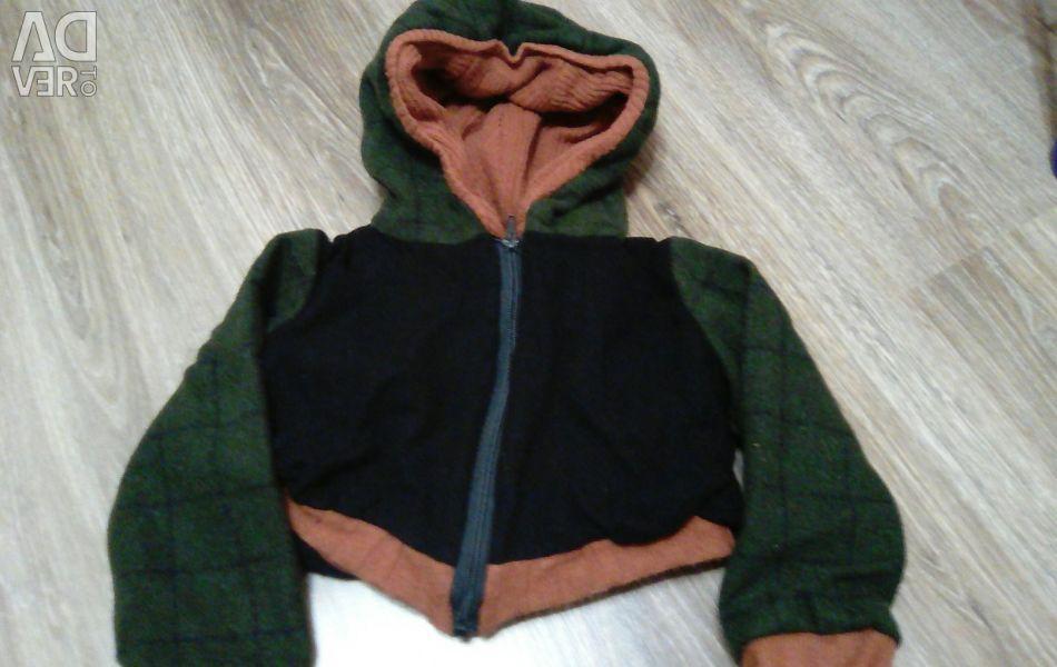 Куртка укорочена з лeгкого драпу