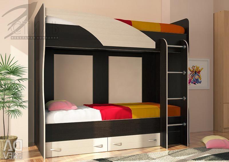 Κρεβάτι 2 επιπέδων Miya (At)