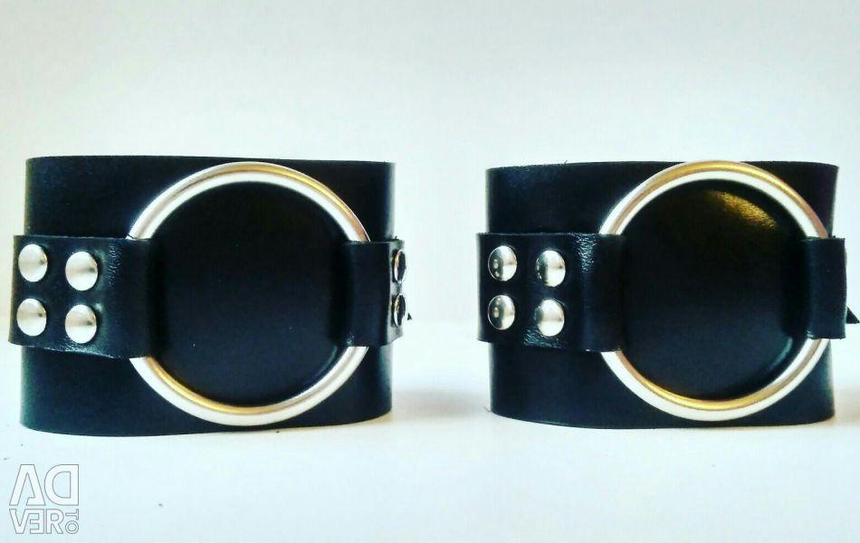 Genuine Leather Handcuffs