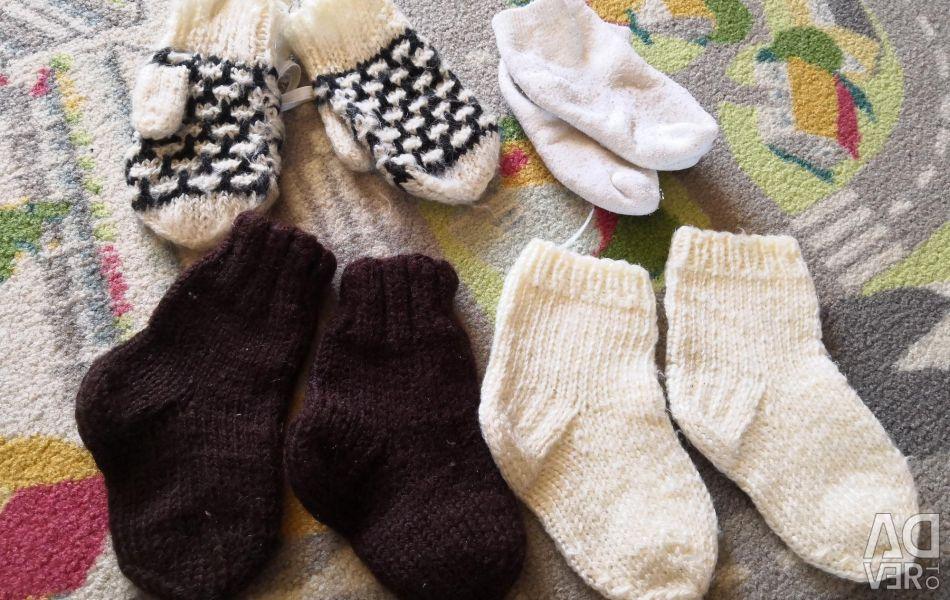 Ζεστές κάλτσες και γάντια 4 ζευγάρια