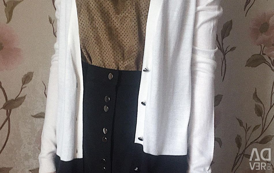 Button-down cardigan MANGO two-tone