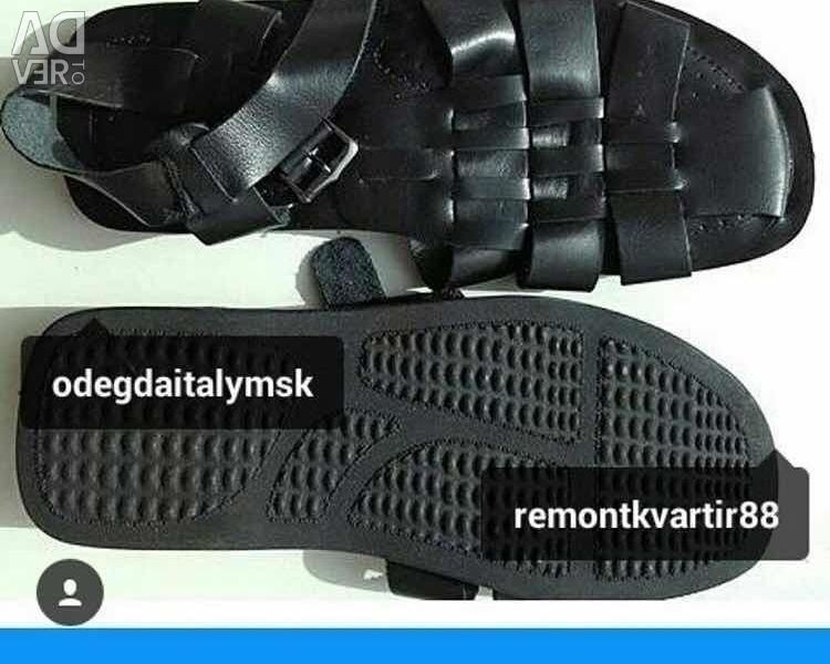 Sandals mens new leather sandals size 45-44