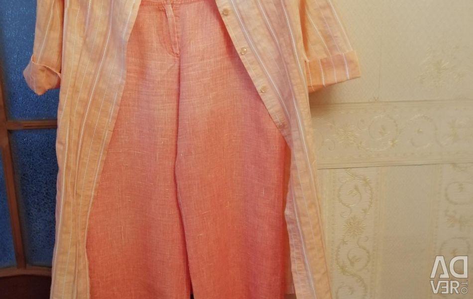 Κοστούμι με παντελόνι, λινάρι