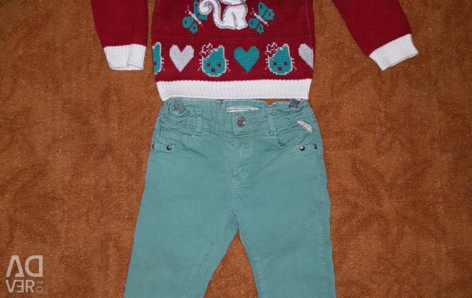 Jeans Maioral ve kazak yeni