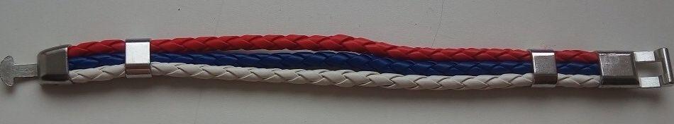 Браслет плетеный «триколор»
