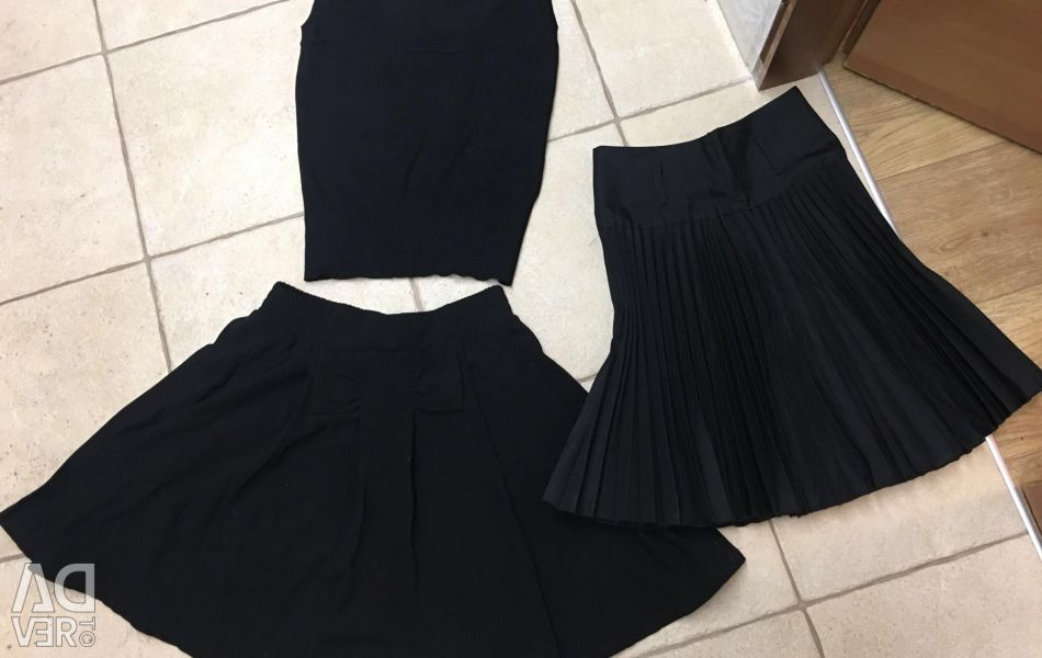 School vest and skirts
