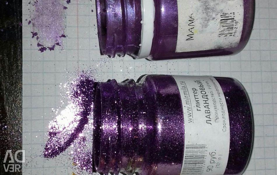 GLITTER PEARL GOLD Violet Dye BLACK