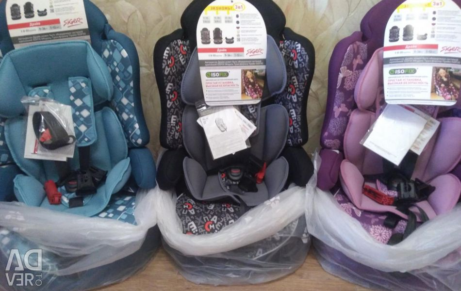 New Siger Prime car seat isofix 9-36 kg