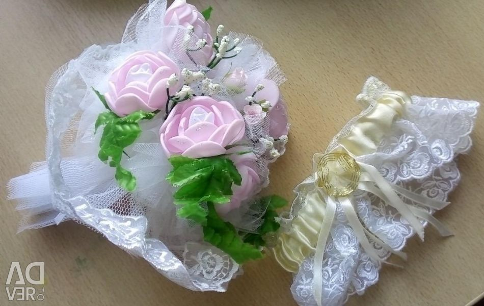 Bouquet and garter for the wedding
