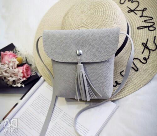 Bag gray on a new belt