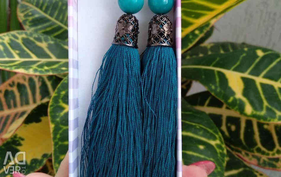 Handmade brush earrings