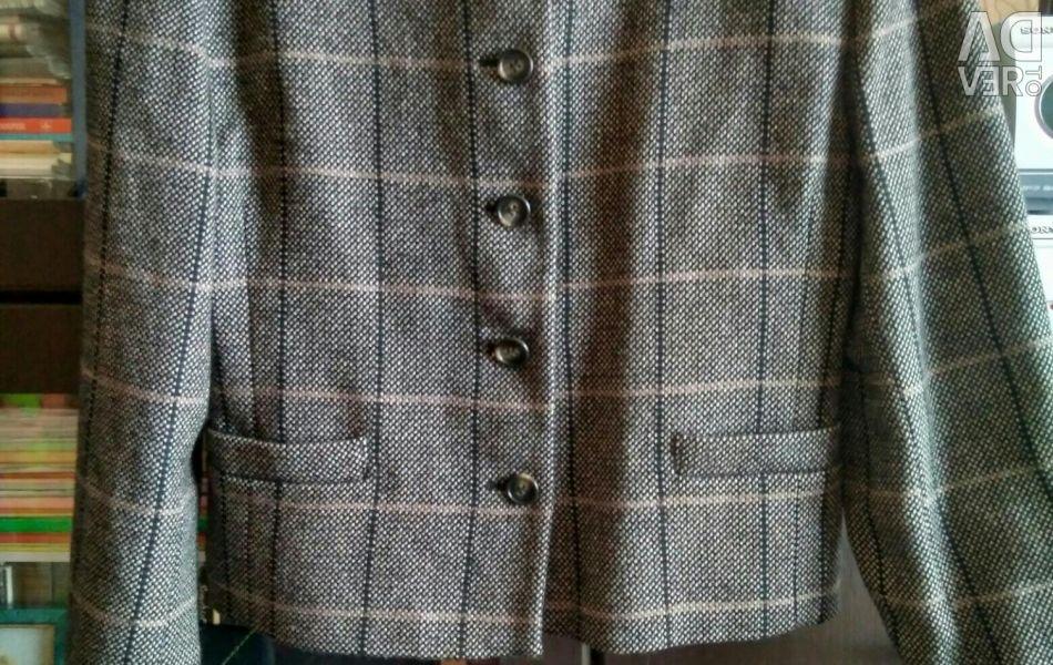 Gri Kareli Ceket