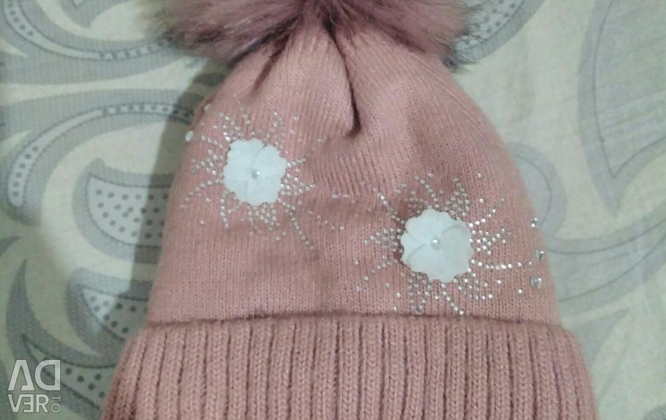 Winter hat for girls for 1 year