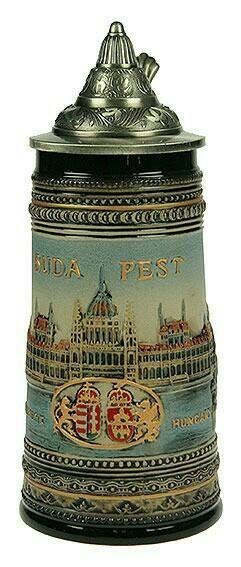 114472 Beer mug collection with lid Budap