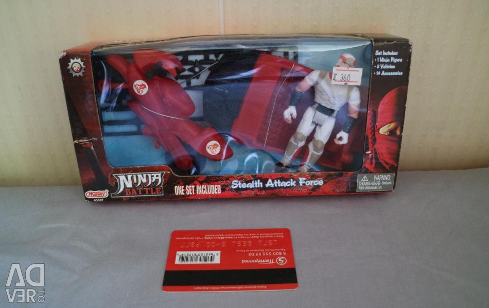 Ninja set with transport