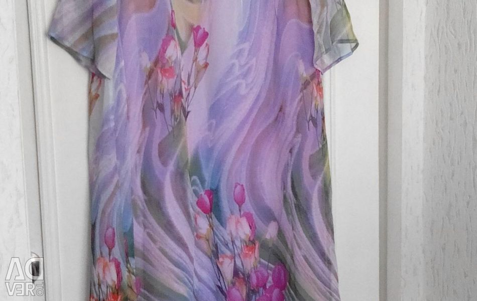 Chiffon dress with cover