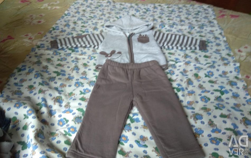 Set (trousers and sweatshirt)