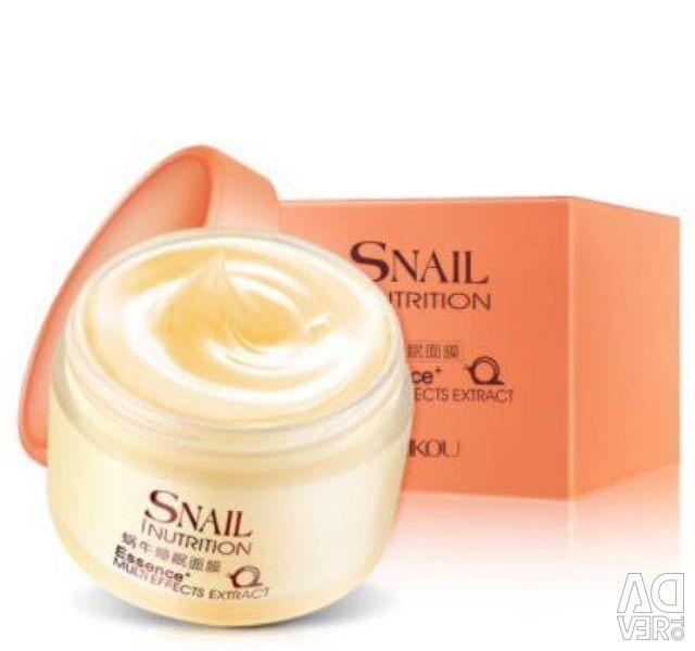 Snail nutrition cream gel with snail