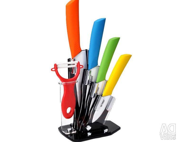 A set of ceramic knives