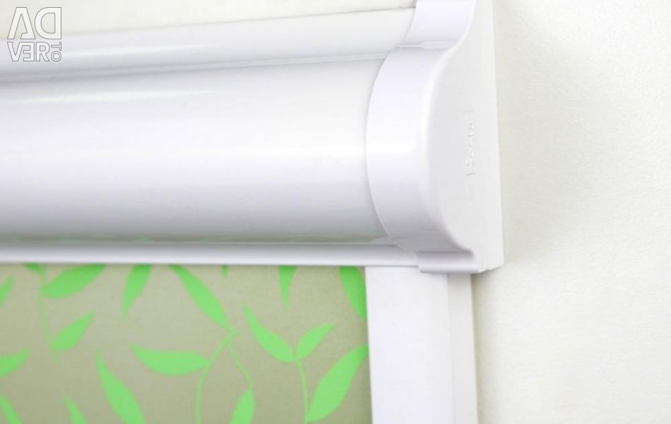 Roller blinds for plastic windows without drilling