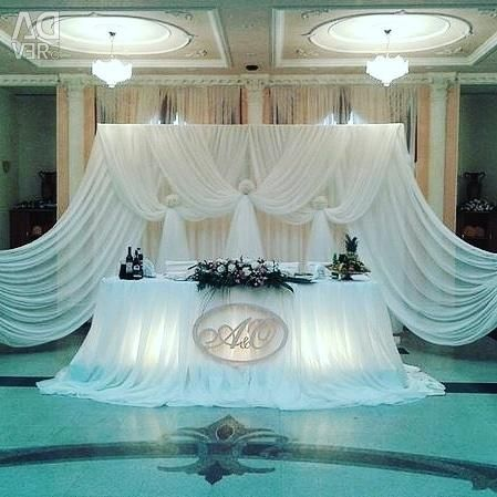 Decoration of the wedding hall