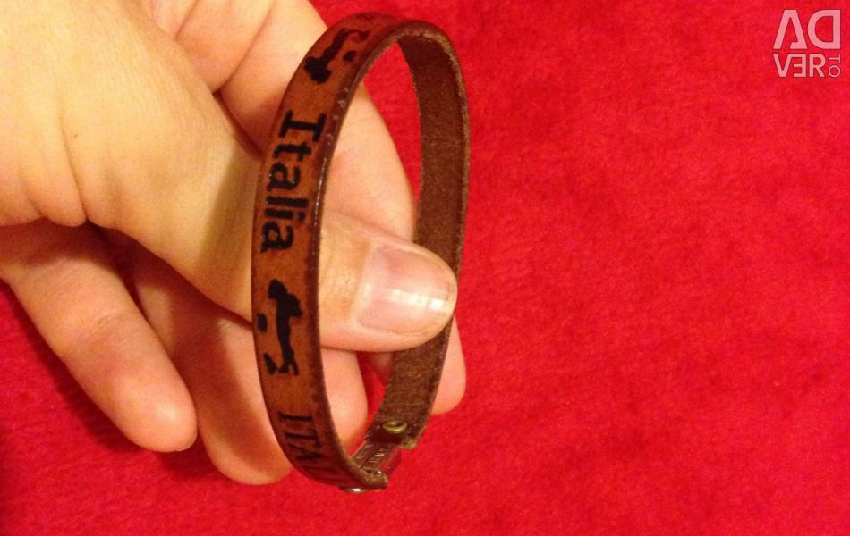 Bracelet made of genuine leather