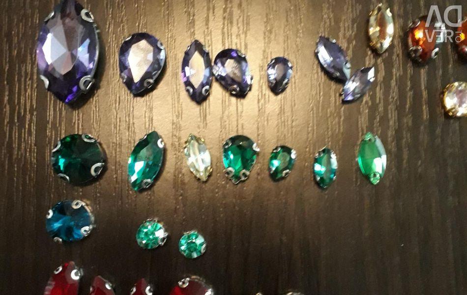Rhinestones glass for one piece