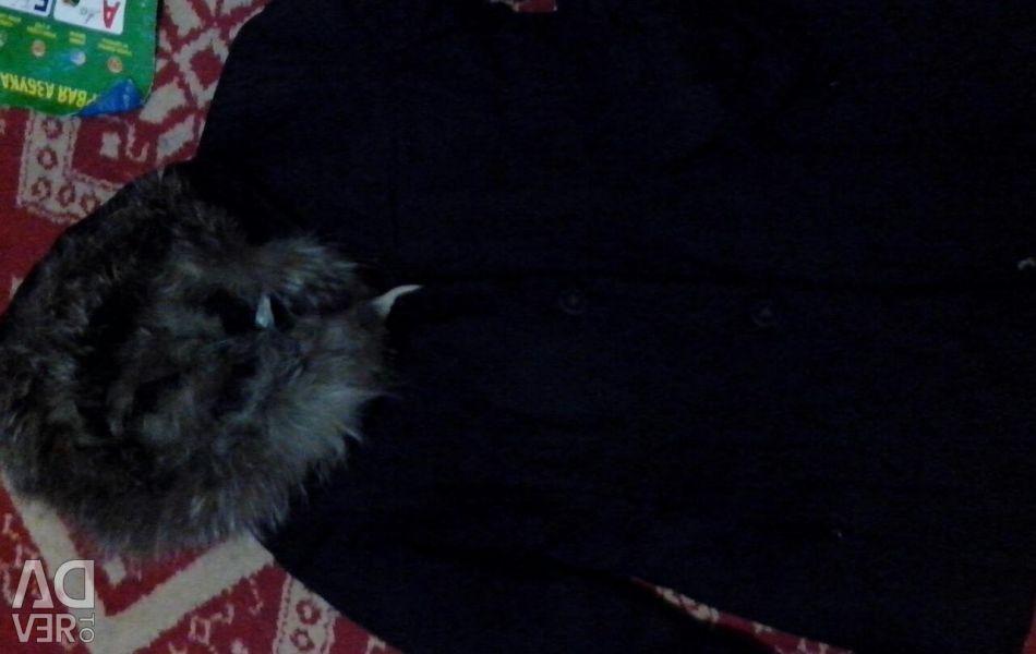 Silver fox jacket with rabbit undercoat