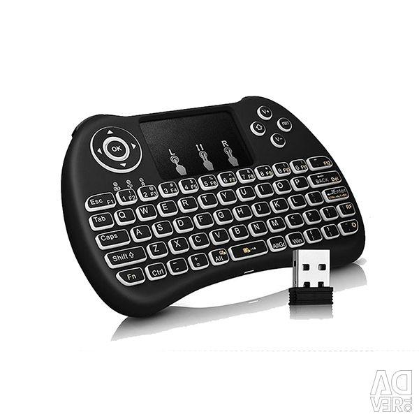 Rii tastatură mini wireless Blacklit Touchpad