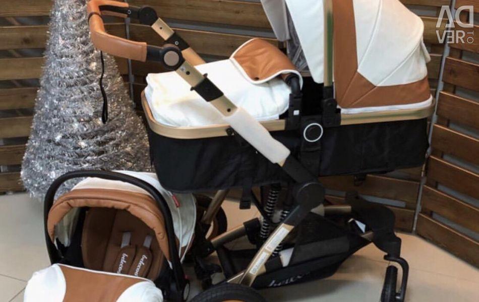 Καροτσάκι 3in1 μετασχηματιστή + κάθισμα αυτοκινήτου