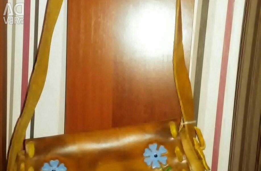 Women's leather handbag new trade