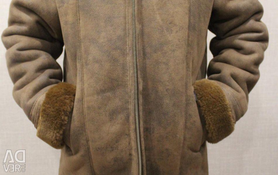 New men's sheepskin coat