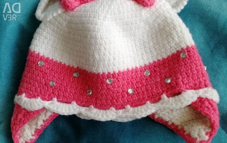 Șapcă dublă pentru prințesa nou-născută