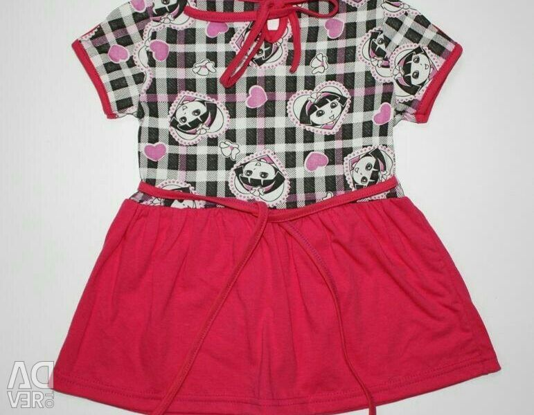 Dress for girls 100% cotton
