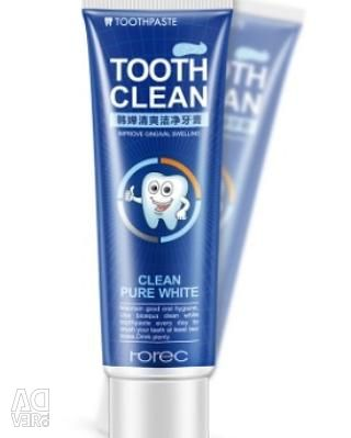 Whitening toothpaste with menthol