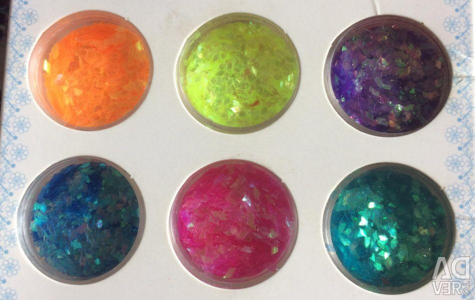 For nail design glitter