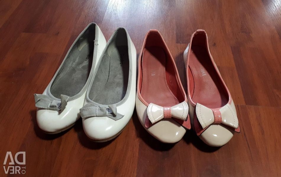 Ballet flats 37 size price for all (1 time used)