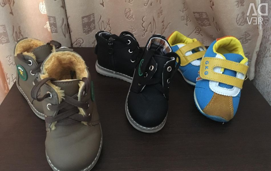 Shoes on a boy