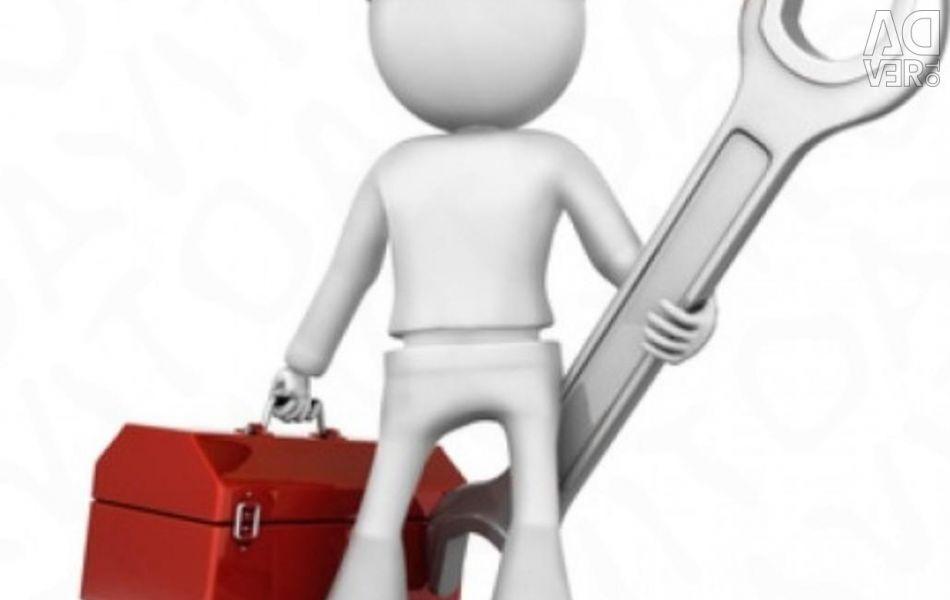 Repair of refrigerators, freezers