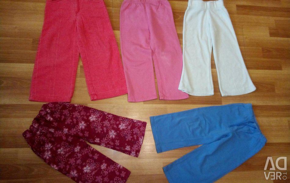 Pantolon, 2 yaşındaki bir kız için pantolon