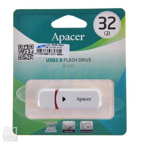 USB 2.0 USB Flash Drive 32Gb Apacer AH333 White