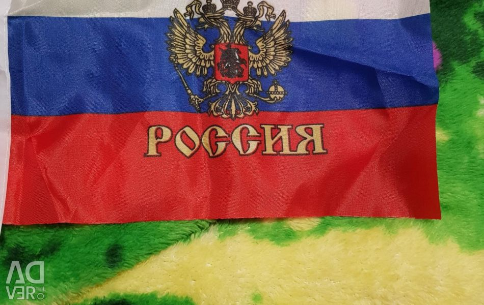 Small Russia flags with emblem